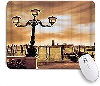 KENADVI マウスパッド 個性的 おしゃれ 柔軟 かわいい ゴム製裏面 ゲーミングマウスパッド PC ノートパソコン オフィス用 デスクマット 滑り止め 耐久性が良い おもしろいパターン (大運河の夢のような空に聖マルコ広場に係留されたヴェネツィアラグーンゴンドラ)