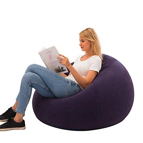 SASKATE Puffs Pera, Silla Flocado Bean Bag - Silla Inflable de PVC para Interior/Exterior, cómodo sofá Bean Bag