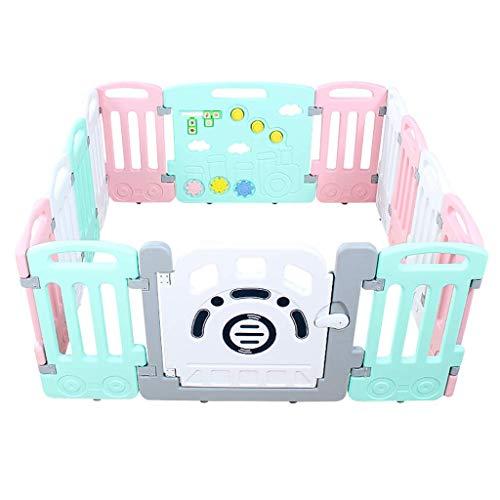 Relaxbx Baby-speelhek, parkeomheining van de kinderen, baby-veiligheids-activiteit middel-beweegbare hoofdspeelplaats voor kleine kinderen