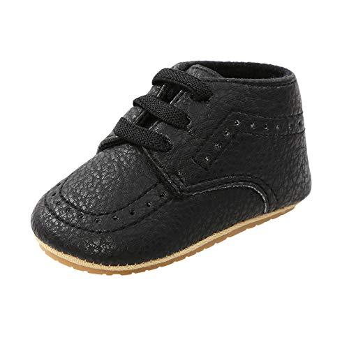 Julhold Zapatos de deporte para niños y niñas con suela de goma antideslizante y suela suave para caminar al aire libre, color Negro, talla 22 EU
