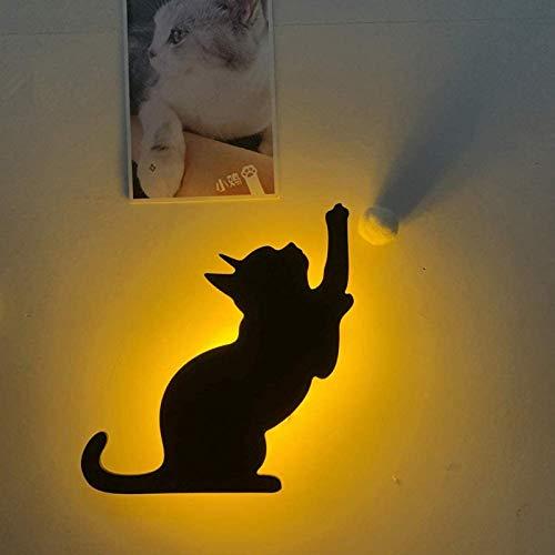 HHYSPA LáMpara De ProyeccióN De PatróN 3D, LáMpara De Pared De ProyeccióN Led para Gatos LáMpara De Control De Sonido De Marquesina En La Pared, Control De Sonido Sensor De Silueta Luz Nocturna #1