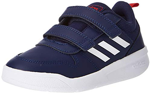 adidas Unisex-Child Tensaur Road Running Shoe, Dark Blue/Footwear White/Active Red, 32 EU