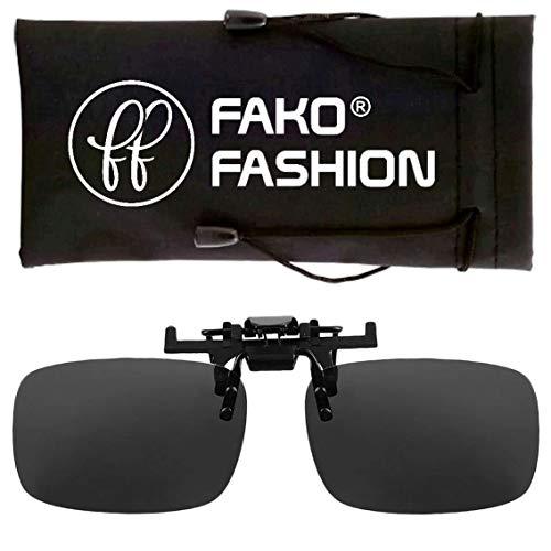 Fako Fashion® - Clip On Voorzet Zonnebril - Large - 134x39mm - Zwart