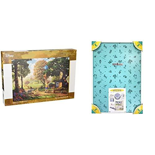 1000ピース ジグソーパズル くまのプーさん Winnie The Pooh II スペシャルアートコレクション (51x73.5cm) & アルミ製パズルフレーム ディズニー専用セーフティパネル 1000ピース用 ホワイト (51x73.5 cm)【セ