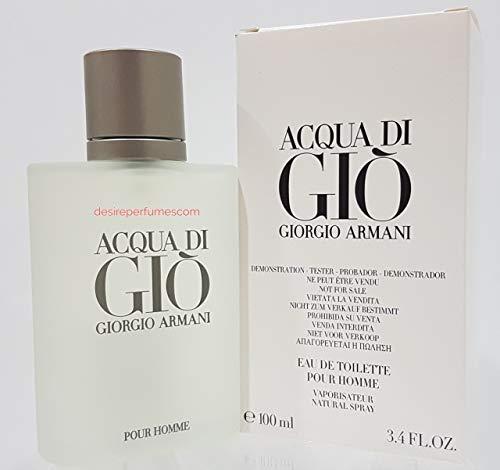 Acqua de Gio [TESTER] Eau de Toilette spray Cologne for Men [WHITE BOX], 3.4 Fl Oz