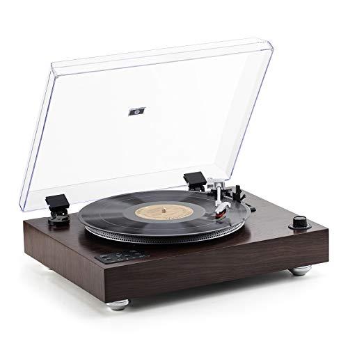 SHUMAN Bluetooth-Plattenspieler - Vinyl-Plattenspieler, USB-Wiedergabe, Aufnahme, Line-Out, Vatertagsgeschenk(MC275)