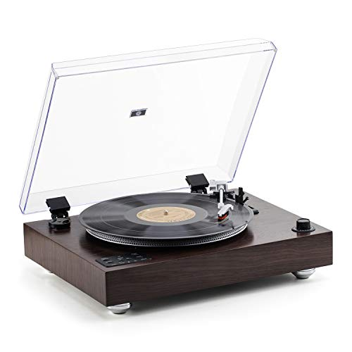 Rcm 3-Speed Turntable with Wireless Receiver & Transmitter Stereo Speakers