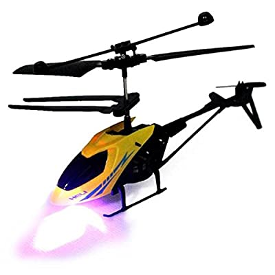 Fineday RC 901 2CH Mini Helicopter Radio Remote Control Aircraft Micro 2 Channel YE, HotSales (Yellow), Shipping from The United States