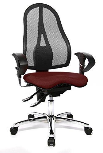 Topstar ST19UG03 bureaustoel Sitness 15 inclusief in hoogte verstelbare armleuningen paars bordeaux-rood/zwart