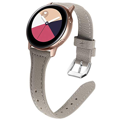 KIMILAR Leder Armband Kompatibel mit Samsung Galaxy Watch 42mm/Watch Active/Active 2 (40mm/44mm)/Galaxy Watch 3 41mm Armbänder Kompatibel mit Garmin Vivoactive 3, Forerunner 645/245/Vivomove HR