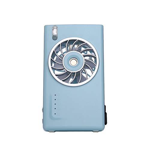 XXKT Mini condizionatore d'aria portatile, Mini ventola di raffreddamento mini ventilatore da camera ventola deumidificatore portatile silenzioso piccolo desktop fan-Blu 13.5x7.5cm (5x3inch)