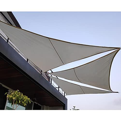 Vela De Sombra Para El Sol Al Aire Libre, Triángulo 160 GSM Tela Oxford 95% Vela De Sombra De Bloque UV Con Cuerda Libre, Para Jardín, Patio, Fiesta, Toldo Con Protección Solar,Gris,7.9*7.9*7.9ft