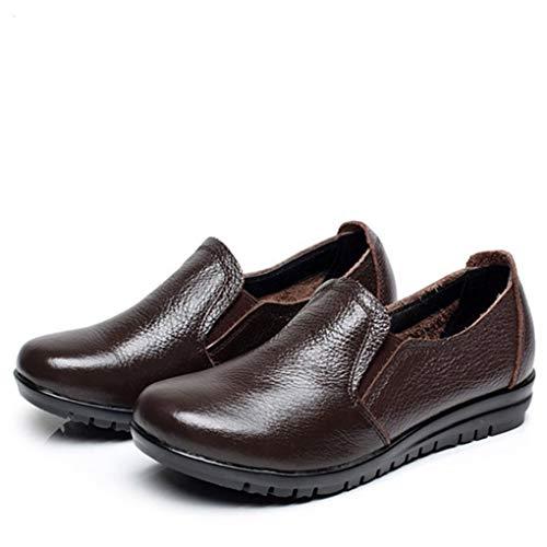 Dames Platform Wedges Loafers Ronde Neus Instappers Klassiekers Brogues Zakelijke Werkschoenen Eenvoudig Comfort Zachte Onderkant Moederschoenen