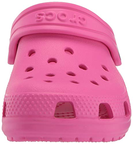 Crocs Kids' Classic Clog | Slip On Shoes for Boys and Girls | Water Shoes, Electric Pink, 7 US Toddler