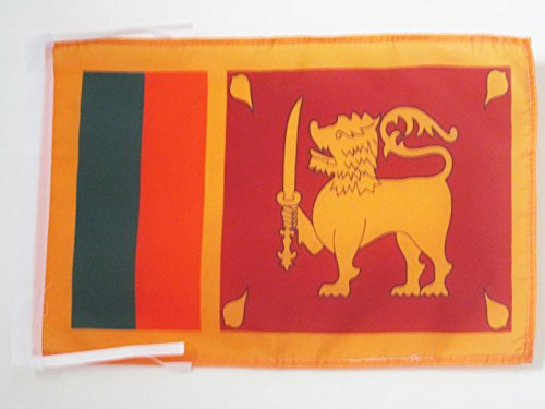 AZ FLAG Flagge SRI Lanka 45x30cm mit Kordel - DEMOKRATISCHE SOZIALISTISCHE Republik SRI Lanka Fahne 30 x 45 cm - flaggen Top Qualität