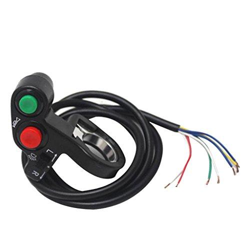P Prettyia Interruptor Universal de Doble Botón, Señal de Giro de Bocina, Encendido, Apagado, Apto para Scooter