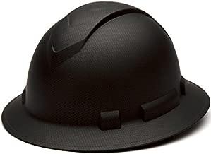 Pyramex Ridgeline Full Brim Hard Hat, 4-Point Ratchet Suspension, Matte Black Graphite Pattern