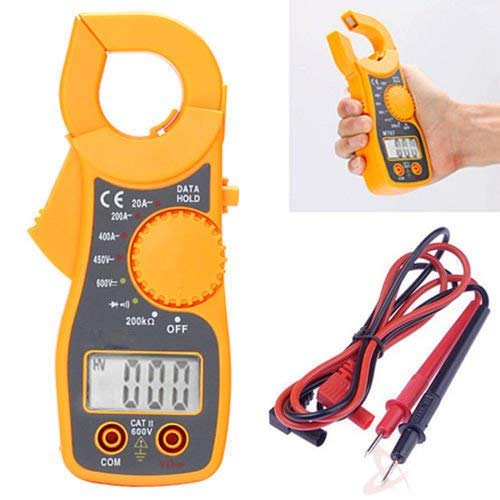 Twisted Portable LCD Digital Mini Clamp Ampere AC DC Voltage Multi Meter Current OHM Tester