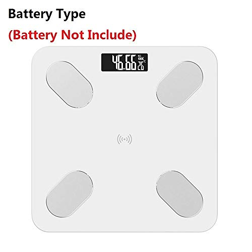 Weegschaal Smart Scales Household Premium Support Bluetooth APP Vetpercentage Digitaal lichaamsvet Weegschaal white_Using_battery