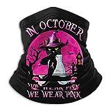 Gato Negro en Octubre usamos Rosa Divertido Halloween Cara Cubierta Cuello Polaina Multifuncional Ba...