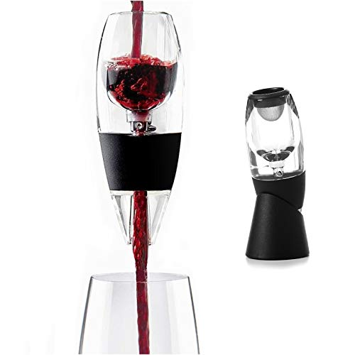 Prirodnii,Wine Aerator,Wine Decanter,Quick Aerating Easily and Conveniently Aerates Wine to Make Your Wine Taste Better,Premium Wine Bottle Pourer for Gift Travel Bag & Base
