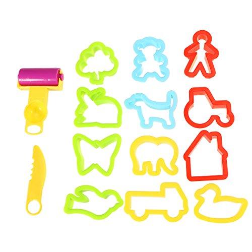 Rosenice - Set di utensili per pasta modellabile e argilla, giocattoli educativi per bambini