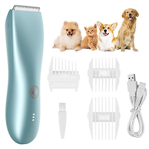 Babacom Dog Clippers, Cordless Low Noise Dog Grooming Kit For Pets, Rechargeable & Quick Charging & Waterproof Professional Cat Clippers with 3 Combs, Quiet Electric Dog Trimmers Shavers for All Pets