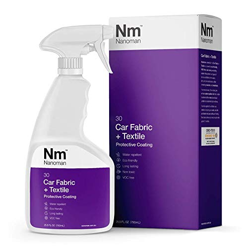 NANOMAN Nano-Technology Car Fabric & Upholstery Care (750ML) Hydrophobic Waterproof Protector and Stain Guard for Auto Interior Fabrics, Seats, Carpets and Floor Mats.