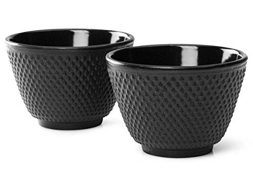 Bredemeijer G004Z - Tazas de té Jang, negro (juego de 2)