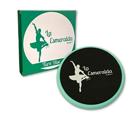 Ballet turning disc for dancers, ice skaters, gymnasts etc Helps improve turns, balance, spotting, stability and much more. Made with thick EVA Foam (Turquoise with gift box but without carry bag.)