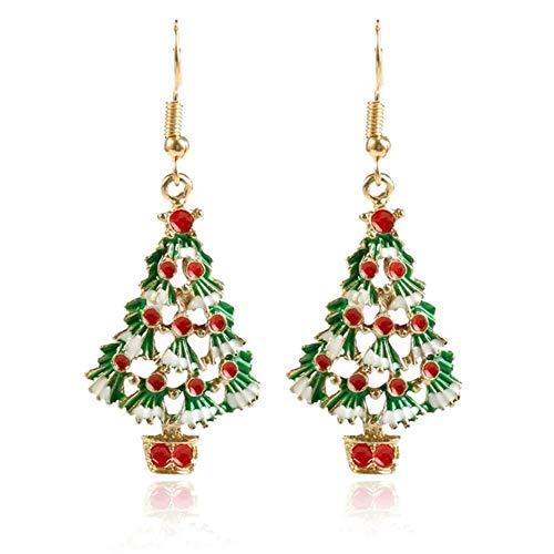 Z&HA Weihnachten Ohrstecker Für Frauen, Weihnachten Art-Ohrringe Für Mädchen-Kinder, Adventskranz Süßigkeiten Haus Ohrringe Weihnachtsbaum Schneemann Ohrringe