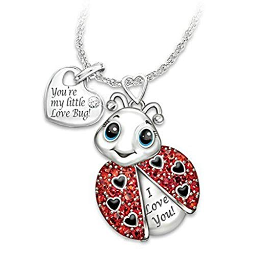 QIANGU Pendant Necklaces, Elephant Bee Owl Pendant Necklace Lucky Animals Never Forget I Love You Pendant