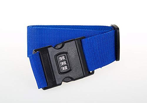 Ladud XLDBD-MM-006 Correas, Cruz Contraseña Embalaje Equipaje Maleta Cinturón de encuadernación,Azul Oscuro, Unisex-Adult, One Size