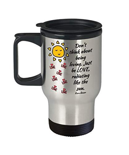 Ram DASS - Taza de café de acero inoxidable con citas