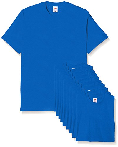 Fruit of the Loom Herren Original T. T-Shirt, königsblau, XXL (10er Pack)
