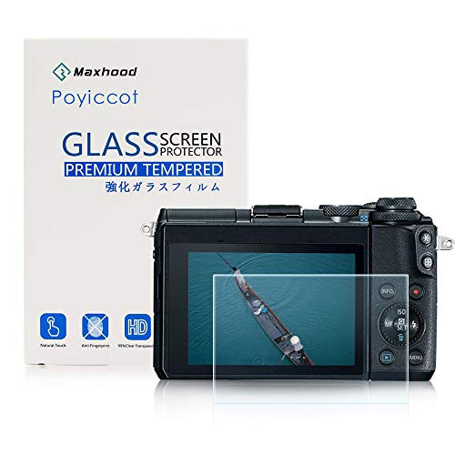 Poyiccot for Canon EOS M6 / EOS M100 Tempered Glass Screen Protector, Optical 9H Hardness 0.3mm Ultra-Thin DSLR Camera Tempered Glass for Canon EOS M6, EOS M100 (1 Pack)