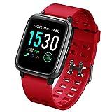 naack Pulsera Actividad, smartwatch, Reloj Inteligente Impermeable IP68 Pulsómetro Monitor de sueño Pulsera Deportiva Cronómetro Contador de calorias para Mujer Hombre Niños Compatible iOS y Android