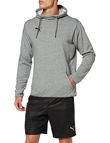 PUMA Męska bluza z kapturem Liga Casuals Hoody Hoodie szary Medium Gray Heather-Puma Black l