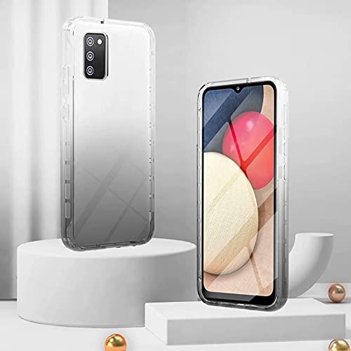 CRABOT Compatibile con Cover Samsung Galaxy A02S(U.S. Edition) Custodia Astuccio La Copertina Proteggi Schermo a Prova di Polvere Antiurto Completamente Sigillato Colore Sfumato-Nero