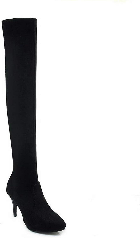AdeeSu Womens Spikes Stilettos Pointed-Toe Imitated Suede Boots SXC03438