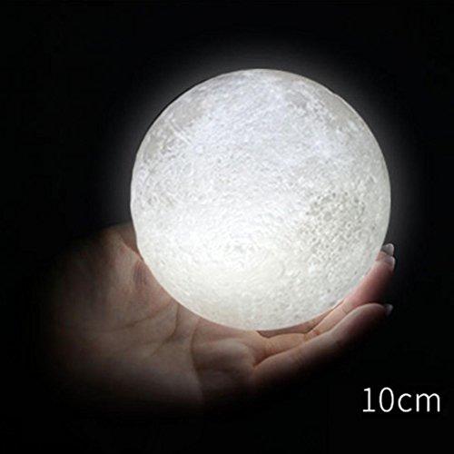 Covermason 3D USB LED Magical Moon Night Light Moonlight Table Desk Moon Lamp Gift 10cm