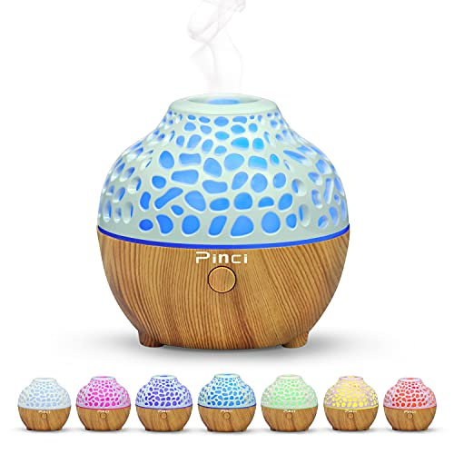 Pinci Diffuser Essential Oil Humidifier, USB Mini Humidifier,Small Portable Humidifier,Ultrasonic Cool Mist Humidifier,Waterless Auto Shut-Off And BPA-Free Suitable for bedroom,office,bathroom etc.