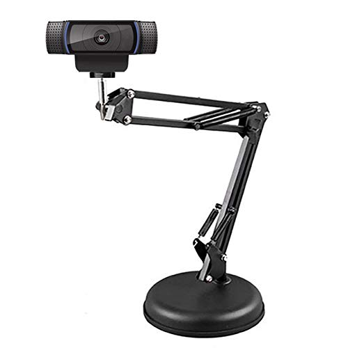 Brazo de monitor de PC, 17.7 pulgadas, soporte de escritorio, soporte extensible para cámara, abrazadera de montaje de mesa ajustable para cámaras de red 1/4, teléfonos móviles, tabletas