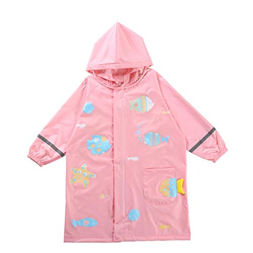 Imperméable GCX for Enfants for bébé for bébé Cartoon garçon Fille Étudiant Poncho La Mode (Color : Pink, Size : S)