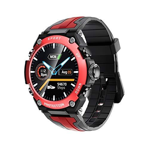 """N \ A Smartwatches für Männer Frauen, 1,3""""Bluetooth Smartwatch, IP68 wasserdicht, Activity Tracker mit Monitor-Schlafkompass, Smartwatch für Android-Handys und iOS-Handys-schwarz"""