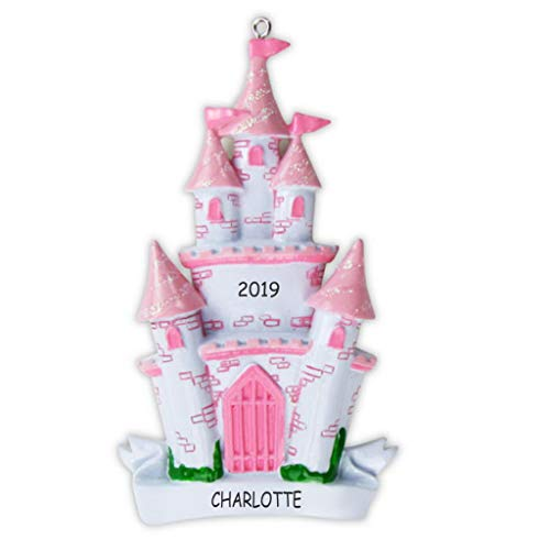 DIBSIES Personalization Station Personalized Princess Castle Kids Christmas Ornament