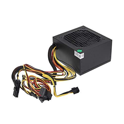 HappyL Productos eléctricos Fuente de alimentación 450W 12 cm Ventilador 8 Pin PCI SATA 12V Power Fuente de alimentación (Color : EU Plug)