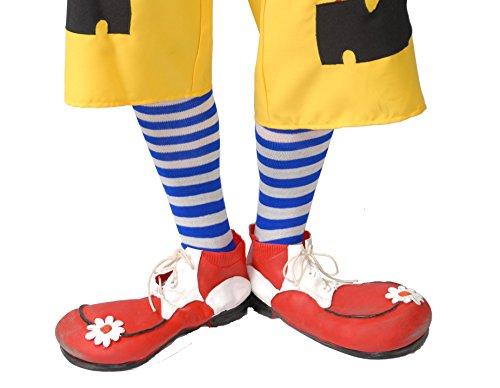 Guirca Fiestas gui2322–Scarpe da Clown in Lattice (1Coppia)