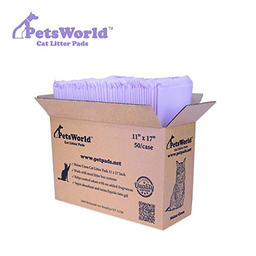 PETSWORLD Cat Pad Refills for Tidy Cats Breeze Litter System (50 Pads)