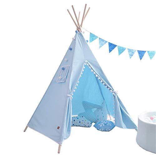 Tienda de campaña para niños, Tiendas de campaña La Tienda de Lona Azul Tiene Bolas de Piel, Tienda de campaña de Cuento Privado para niños Indios Tipi Regalo de cumpleaños - Tienda para niños/niño